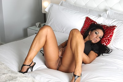 Mercedes laying in bed